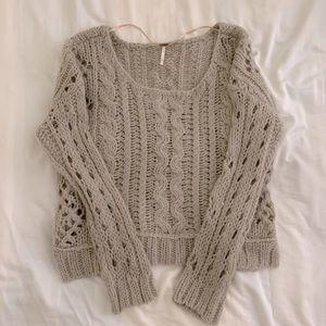 Free people open stitch sweater alpaca blend